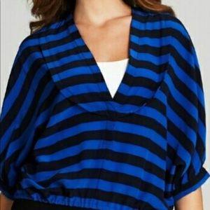 Bcbg blue stripe top